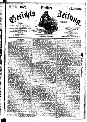 Berliner Gerichts-Zeitung vom 04.02.1873