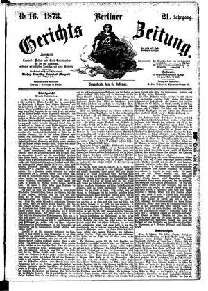 Berliner Gerichts-Zeitung vom 08.02.1873