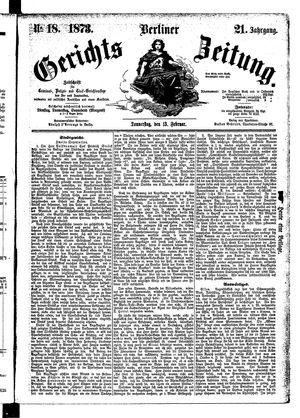 Berliner Gerichts-Zeitung on Feb 13, 1873