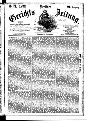 Berliner Gerichts-Zeitung vom 20.02.1873