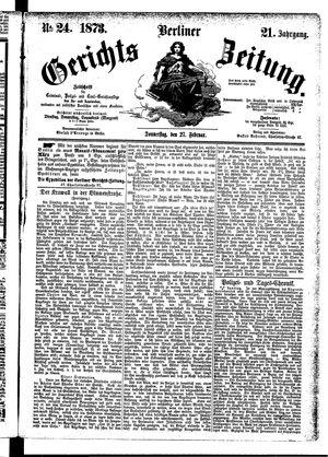 Berliner Gerichts-Zeitung vom 27.02.1873