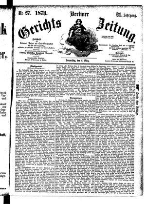 Berliner Gerichts-Zeitung vom 06.03.1873