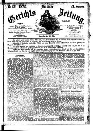 Berliner Gerichts-Zeitung vom 27.03.1873