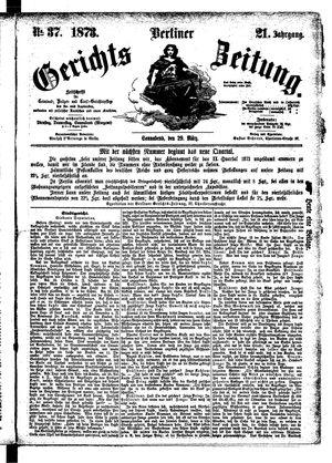 Berliner Gerichts-Zeitung vom 29.03.1873