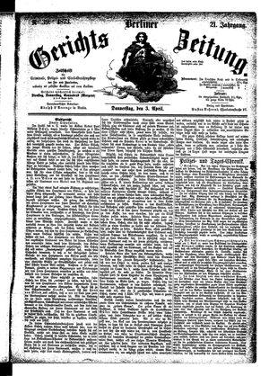 Berliner Gerichts-Zeitung vom 03.04.1873