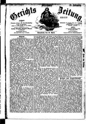 Berliner Gerichts-Zeitung vom 19.04.1873