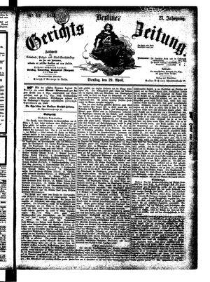 Berliner Gerichts-Zeitung on Apr 29, 1873