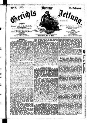 Berliner Gerichts-Zeitung vom 03.05.1873