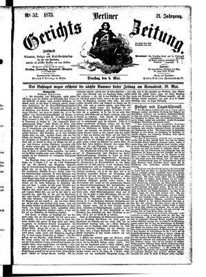 Berliner Gerichts-Zeitung vom 06.05.1873