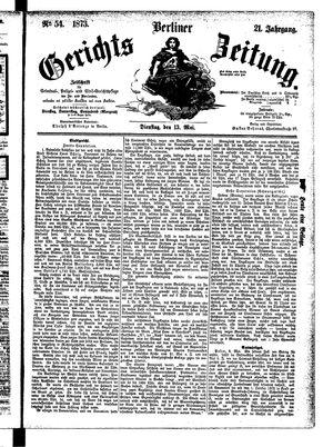 Berliner Gerichts-Zeitung vom 13.05.1873