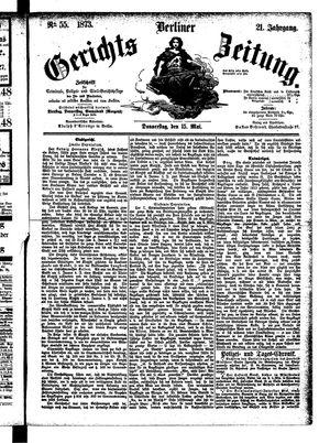 Berliner Gerichts-Zeitung vom 15.05.1873