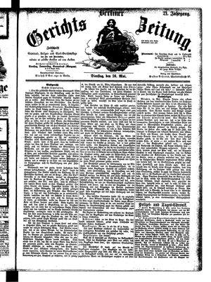 Berliner Gerichts-Zeitung vom 20.05.1873