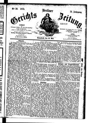 Berliner Gerichts-Zeitung vom 24.05.1873