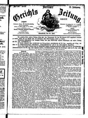 Berliner Gerichts-Zeitung vom 21.06.1873