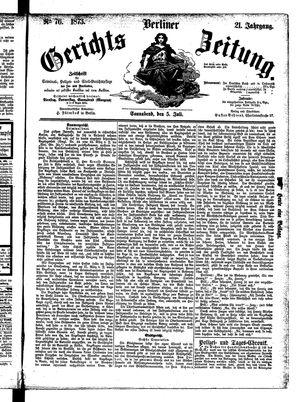 Berliner Gerichts-Zeitung vom 05.07.1873