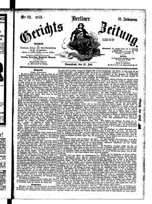 Berliner Gerichts-Zeitung vom 19.07.1873
