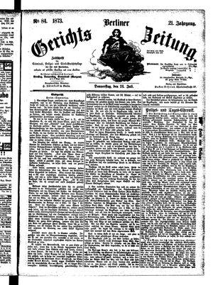 Berliner Gerichts-Zeitung vom 24.07.1873