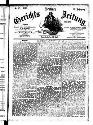 Berliner Gerichts-Zeitung vom 26.07.1873
