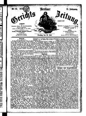 Berliner Gerichts-Zeitung vom 29.07.1873