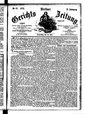 Berliner Gerichts-Zeitung vom 31.07.1873