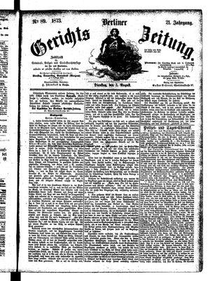 Berliner Gerichts-Zeitung vom 05.08.1873