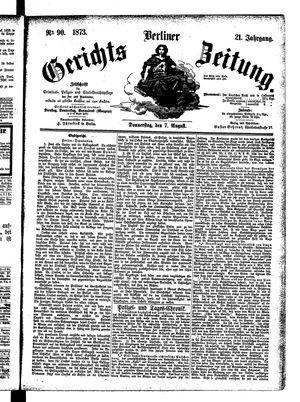 Berliner Gerichts-Zeitung vom 07.08.1873