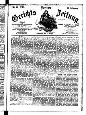 Berliner Gerichts-Zeitung vom 14.08.1873