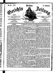 Berliner Gerichts-Zeitung (19.08.1873)