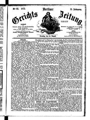Berliner Gerichts-Zeitung vom 19.08.1873