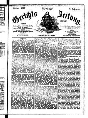 Berliner Gerichts-Zeitung vom 21.08.1873