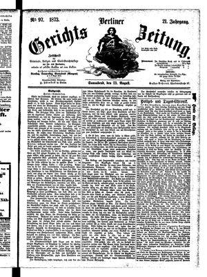 Berliner Gerichts-Zeitung vom 23.08.1873