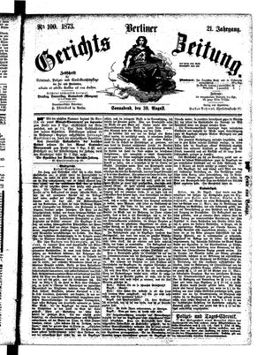 Berliner Gerichts-Zeitung vom 30.08.1873