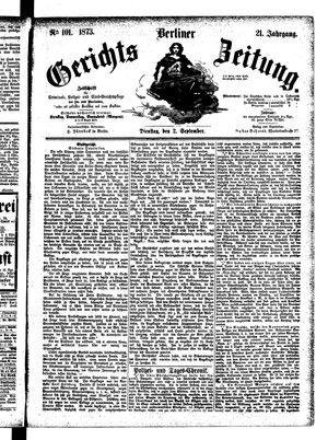 Berliner Gerichts-Zeitung vom 02.09.1873