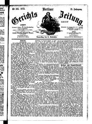 Berliner Gerichts-Zeitung vom 11.09.1873