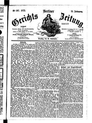 Berliner Gerichts-Zeitung vom 16.09.1873