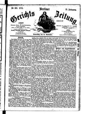 Berliner Gerichts-Zeitung vom 18.09.1873