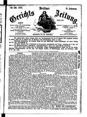 Berliner Gerichts-Zeitung vom 20.09.1873