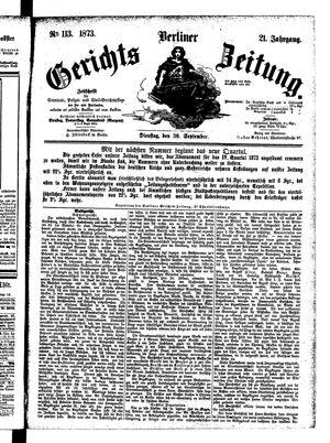 Berliner Gerichts-Zeitung vom 30.09.1873
