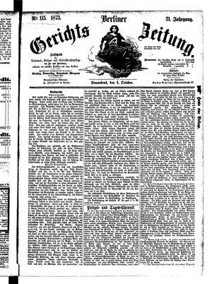Berliner Gerichts-Zeitung vom 04.10.1873