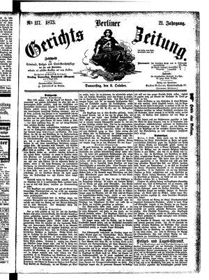 Berliner Gerichts-Zeitung on Oct 9, 1873