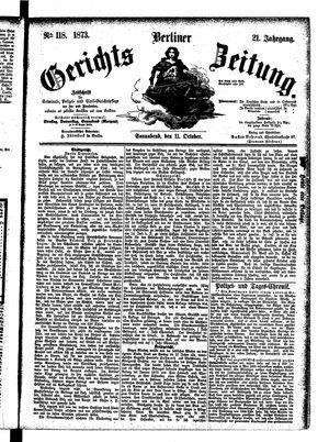 Berliner Gerichts-Zeitung vom 11.10.1873