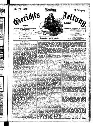 Berliner Gerichts-Zeitung vom 16.10.1873