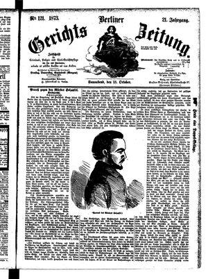 Berliner Gerichts-Zeitung vom 18.10.1873