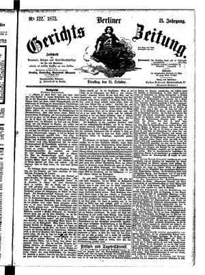 Berliner Gerichts-Zeitung vom 21.10.1873