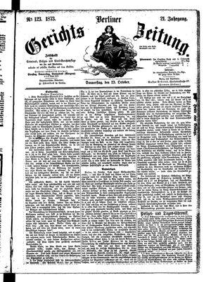 Berliner Gerichts-Zeitung vom 23.10.1873