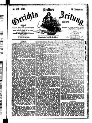 Berliner Gerichts-Zeitung vom 25.10.1873