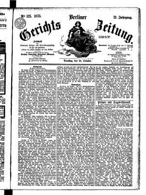 Berliner Gerichts-Zeitung vom 28.10.1873