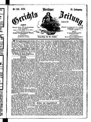 Berliner Gerichts-Zeitung on Oct 30, 1873