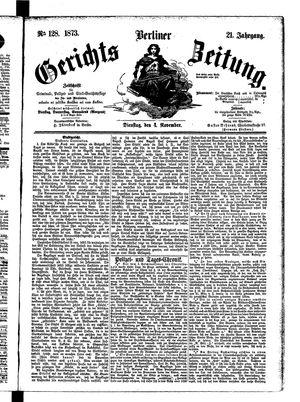 Berliner Gerichts-Zeitung vom 04.11.1873