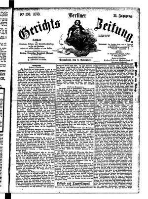 Berliner Gerichts-Zeitung vom 08.11.1873